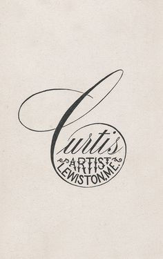 Vintage logo - within the curl of a letter
