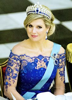 ♥•✿•QueenMaxima•✿•♥... State Visit to Denmark: Day 1. King Willem-Alexander and Queen Máxima have a Gala Dinner at Christianborg Palace, hosted by Queen Margrethe II of Denmark and the Danish Royal Family. 17 March 2015.