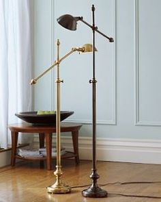 Pottery Barn Pharmacy Floor Lamp ~ Nickel Finish