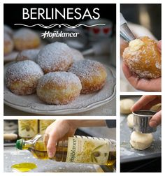 Las BERLINESAS son unos famosísimos dulces originarios de la homónima ciudad alemana, preparados con una ligera masa fermentada que recuerda un poco a los donuts. Son típicos de Carnaval, y se sirven espolvoreados de azúcar y, normalmente, rellenos con crema o mermelada. La fritura con nuestro Aceite de Oliva Virgen Extra Hojiblanca aporta un acabado crujiente y evita que el bollo quede aceitoso. #Recetas #Hojiblanca #Postres #Berlinesas