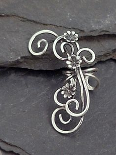 Hey, I found this really awesome Etsy listing at https://www.etsy.com/listing/86689726/sterling-flower-ear-cuff-secret-garden