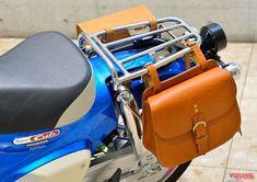 Mini Morris, Motorcycle Saddlebags, Honda Cub, Custom Bikes, Cars And Motorcycles, Motorbikes, Cubs, Yamaha, Saddle Bags