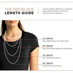the proper length of a Necklace   #cousincorp #jewelryinspiration