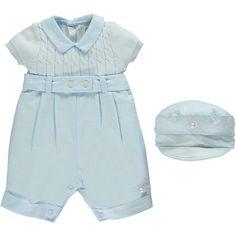 Gerald Boys Blue Smart Romper with Hat Designer Baby Clothes e78be9c8d73c