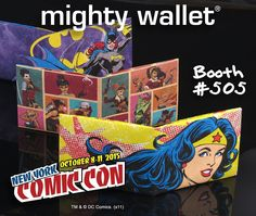 #New #DCComics #MightyWallets Billfolds and Stash Bags available in #NYCC booth #505 including the #Bombshells by #AntLucia who by the way is in #ArtisAlley The Mighty Wallet is the perfect wallet for an #autograph. #WonderWoman #Batgirl #Catwoman #HarleyQuinn #PoisonIvy #BlackCanary #Zatanna #Mera #Hawkgirl #Zatara #Supergirl #Powergirl