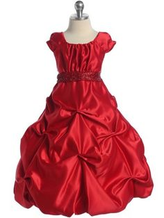 I really, really, really love this dress! I think RED flower girl dresses will be PERFECT! @Leslie C