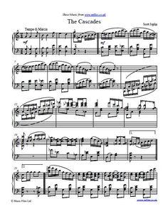 Scott Joplin: The Cascades - piano sheet music, midi and mp3 files