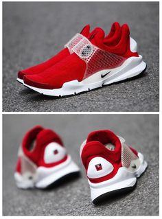 Nike Sock Dart: Red/White