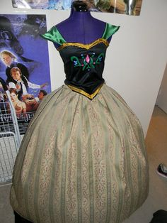 Anna Frozen Coronation Dress Cosplay Costume by snlmoehunt on Etsy, $350.00