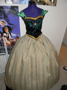 Anna Frozen Coronation Dress Cosplay Costume by snlmoehunt on Etsy, $350.00 #Frozen #DisneyPrincess #Disney #Cosplay