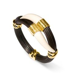 Mens Gold Bracelets, Bangles, Gold Jewelry, Jewlery, Hand Chain, Horns, Teeth, Pendant, Gifts