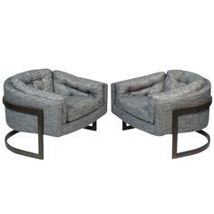 Milo Baughman Style Chairs