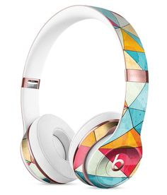Triangular Geometric Pattern Full-Body Skin Kit for the Beats by Dre Solo 3 Wireless Headphones Cute Headphones, Sports Headphones, Bluetooth Headphones, Over Ear Headphones, Beats By Dre, Computer Robot, Apple Products, Full Body, Phone Accessories