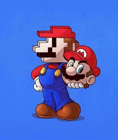 Old school mario.  This looks a little weird to be honest.