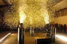 Gold confetti canon...if I cant have a human cannon????!