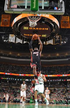 Este es el partido de basquetbol con Miami Calor.