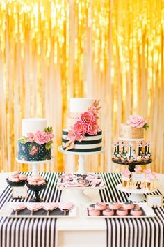 Modern Glam Kate Spade Birthday Party via Kara's Party Ideas | KarasPartyIdeas.com (16)