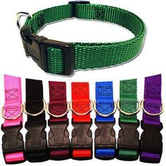 Majestic Pet 14'' - 20'' Adjustable Collar in Multiple Colors Fits Most 40-120 lbs Dogs, Multicolor