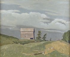 """Farm at Fairmount,"" A. Casson, oil on panel, 12 x Alan Klinkhoff Gallery. Franklin Carmichael, Group Of Seven, Type Setting, Canadian Artists, Art Market, Fine Art, Artwork, Oil, Painting"