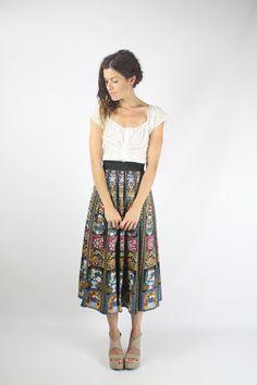 Vintage Folk Skirt  #renewvintage