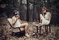 tea party with masks