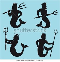 Find Neptune Silhouettes stock images in HD and millions of other royalty-free stock photos, illustrations and vectors in the Shutterstock collection. Male Mermaid, Mermaid Man, Poseidon, Cool Stencils, Neptune, Surf, Man Vector, Egyptian Symbols, Mermaids And Mermen