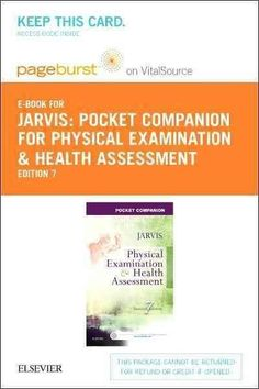 Pocket Companion for Physical Examination and Health Assessment Pageburst E-book on Vitalsource Retail Ac...