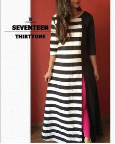 New stylish and trendy kurti neck designs - ArtsyCraftsyDad Simple Kurti Designs, Kurta Designs Women, Kurti Neck Designs, Kurti Designs Party Wear, Salwar Designs, Blouse Designs, Kurti Patterns, Dress Patterns, Ethnic Fashion