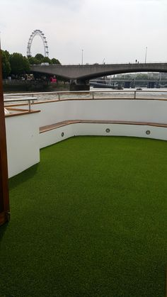ARTTRA Grass Kensington Artificial turf install on Party Boat on London's river Thames on Friday 12th June, 2015... Was a blast!