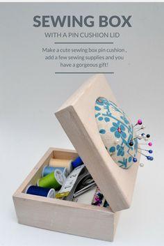 Craft Blog UK: Pin Cushion Sewing Box - Handmade Gift Idea