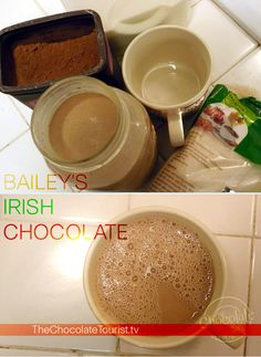 Celebrating with whiskey and chocolate! A delicious hot chocolate recipe with Bailey's and a wink | The Chocolate Tourist blog