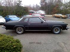 1973 Pontiac Grand Prix SJ: Starlight Black with black cordova top.