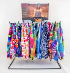 Display Rack holds many Fit Chic Headbands for easy display. More
