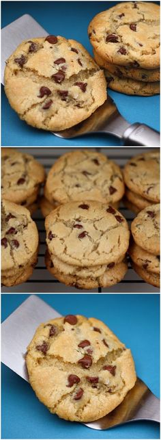 The BEST chocolate chip cookie recipe on twopeasandtheirpod.com #cookies