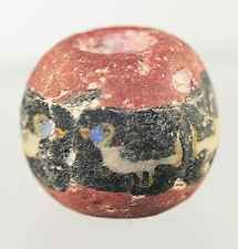 Roman style mosaic glass bead with bird decoration, possibly ancient