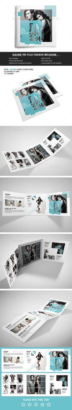 Square Tri-Fold Fashion PSD Brochure