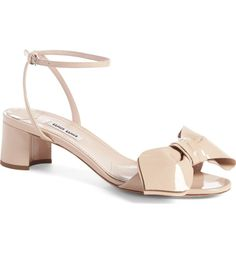 Main Image - Miu Miu Strappy Bow Sandal (Women)