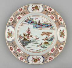 Jingdezhen Porcelain (Jiangxi Province, China) —  Plate, c.1730-1750 : Royal Collection Trust, Her Majesty Queen Elizabeth II, UK  (2000x1905)