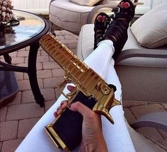 Understand the Glock trigger better and notice how much you progress using your Glock pistol! Understanding the Glock Trigger Glock Revolver, Rauch Fotografie, Fille Gangsta, Desert Eagle, Gold Everything, Gangster Girl, Outfit Des Tages, By Any Means Necessary, Cool Guns