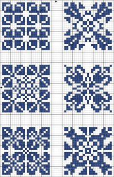 Blue tiles 03 | Free chart for cross-stitch, filet crochet | gancedo.eu