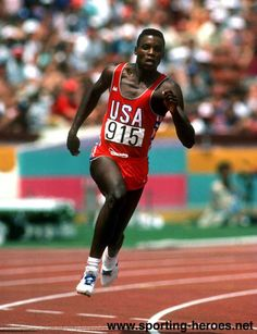 Carl Lewis / 1984 Los Angeles Olympics. Add Around The Rings on www.Twitter.com/AroundTheRings & www.Facebook.com/AroundTheRings for the latest info on the Olympics.