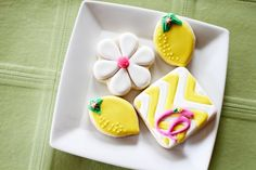 Lemon and Chevron Cookies | Cookies in Color | Shannon Tidwell