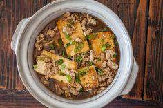 Braised Tofu with Ground Pork ~ https://steamykitchen.com