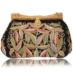 1940s Beaded French Evening Purse with Ornate Beaded Frame. Photo by Treasures and Pleasures.