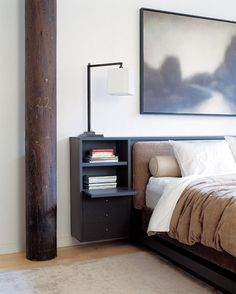 Great bed/side table/storage all rolled into one chic and sophisticated piece. Love it.