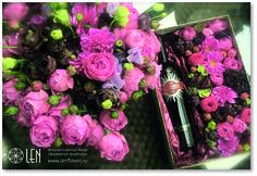 Flower and wine box/Present