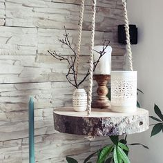s & # Craft box: {DIY} tree slice hanging floor - Diyproje .- s & # Bastelbox: {DIY} Baumscheibe Hängeboden – Diyprojectgardens.club s & # Craft box: {DIY} tree slice hanging floor # craft box # tree slice # hang floor - Diy Casa, Diy Hanging Shelves, Hanging Table, Craft Box, Cute Diys, Farmhouse Decor, Modern Farmhouse, Diy And Crafts, Craft Ideas For The Home