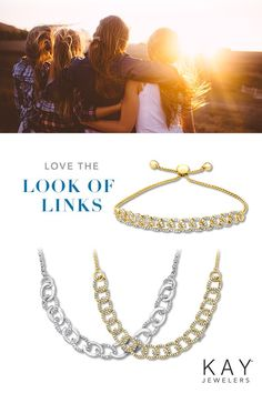 8b4351cade3 Diamond chain link necklaces and bracelets have never looked so stylish.  Kay Jewelers, You