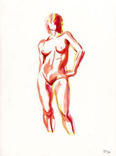 """""""This is S.""""  Watercolour with some color pencil 24 x 32 cm (9.4 x 12,6 Inches) Tombow Watercolour Paper Tombow, A Comics, Comic Artist, Watercolor Paper, 6 Inches, Colored Pencils, Nude, Sketches, Creative"""