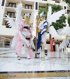 Angewomon and Angemon - Digimon
